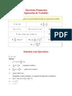 Separacion de Variables