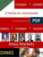 DINKS YUMMY HENRY + Nichos de mercado en crecimiento + Mercadeo