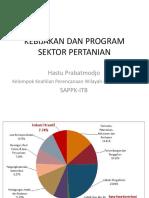 Kebijakan Dan Program Sektor Pertanian