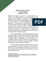Case Digest-Mejoff v Director of Prisoners