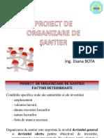 PROIECT ORGANIZARE DE SANTIER