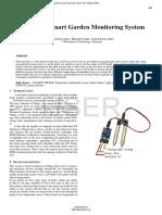 IOT Based Smart Garden Monitoring System
