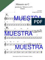 Minueto en C - Partitura Completa
