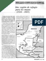 Lacandón Región de Refugio Para Los Mayas 1524 .1821