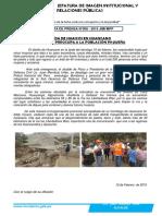 Nota Nº 008 - Huayco en Huancano