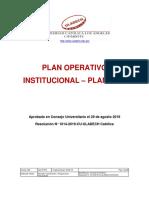 Plan Operativo Institucional 2019