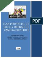 Plan Provincial de Riego y Drenaje