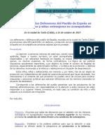 Declaración de Tarifa sobre menores extranjeros no acompañados