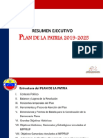 Resumen Ejecutivo Plan de La Patria