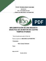 PROYECTO DE GRADO MECANICA AUTOMOTRIZ
