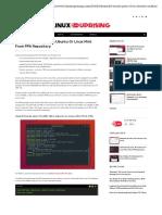 Instalacion Java 10 en linux