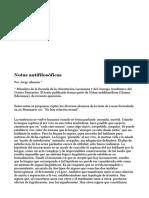 Notas antifilosóficas de Jorge Aleman
