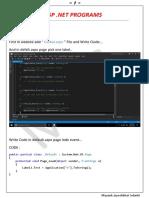 ASP Dot Net Programs