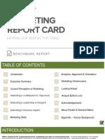 Marketing Report Card Benchmark Report