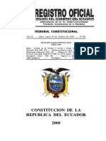 Constitucion 2008 de la republica del ecuador