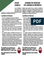 Panfleto da Reforma da previdência - MOB-RJ