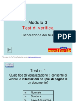 Modulo 3 Test Verifica