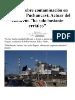 Experto Sobre Contaminación en Quintero y Puchuncaví