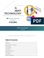 Sales Enablement Technology Bencharking Report