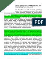 1material Clase Características Físicas de La Fibra de La Llama Ch