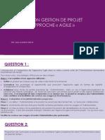 Evaluation Gestion de Projet Par Approche Agile