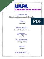 Tarea Vi Educacion Artistica y Animacion Sociocultural