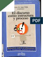 El Discurso Como Estructura y Proceso