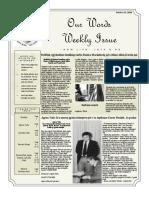 Newsletter Volume 10 Issue 36