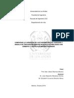 COMPARAR LA VARIACIÓN DE LOS PARÁMETROS DE COHESIÓN Y ÁNGULO DE FRICCIÓN INTERNA DE UN SUELO ESTABILIZADO CON CEMENTO Y ACEITE AUTOMOTRIZ QUEMADO.