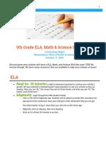 grade level study tips handout