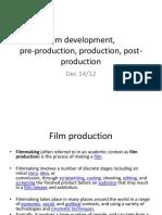 film development preproduction production