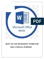Assignment Microsoft Word