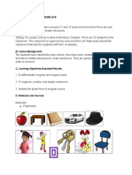 Lesson Plan Template for MICROTEACHING