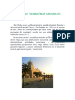 01de Marzo Fundación de San Carlos
