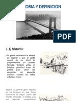 Historia y Definicion Puentes