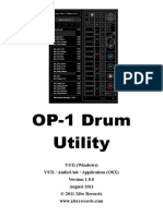 Op 1 Drum Util Manual