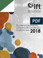 Encuesta Nacional de Consumo de Contenidos Audiovisuales 2018