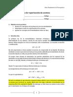 Práctica 2 - Calor de Vaporización de La Acetona
