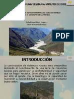 Mejoramiento de Viviendas Rurales Auto Sostenibles en El Municipio de Capitanejo - Vis Rafael Mejia y David Hernandez