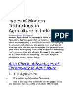 Types of Modern Technology in Agriculture in India.doc