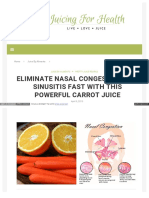 Juicing for Health Com No More Sinus HTML