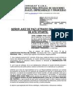 Subsano Demanda de Indemnizacion Por Daños y Perjuicios.