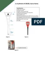 Manual Phmetro Bolsillo Hi 98100