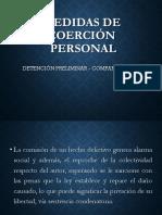 Medidas de coerción personal