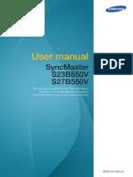 Samsung Manual Monitor S23B550V BN46-00193A-Eng