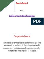 Gestion de base de datos relacionales