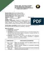 Ejemplo Planilla de Clase 5 Pronombres Personales