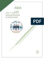DIAGRAMA DE FLUJO- ESPECIALIZACION GESTION DE TALENTO HUMANO