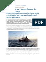CONTRIBUCIONES Y CARGAS AL SECTOR PESQUERO