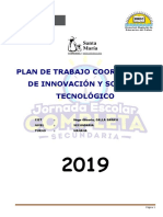 Plan de Trabajo Coordinador de Innovación y Soporte Tecnológico 16 Octubre 2019